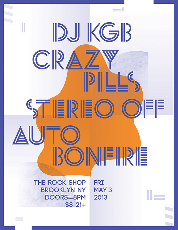 Stereo off at Rock Shop Brooklyn, May 3